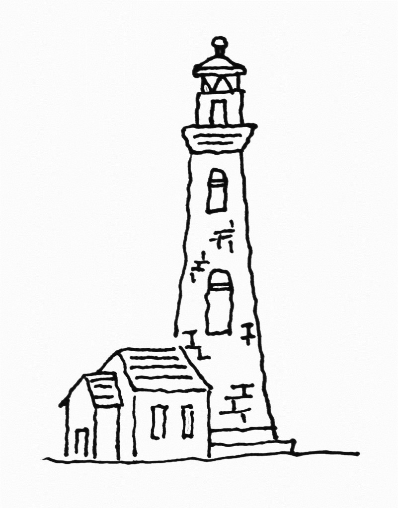 Free Lighthouse Coloring Pages