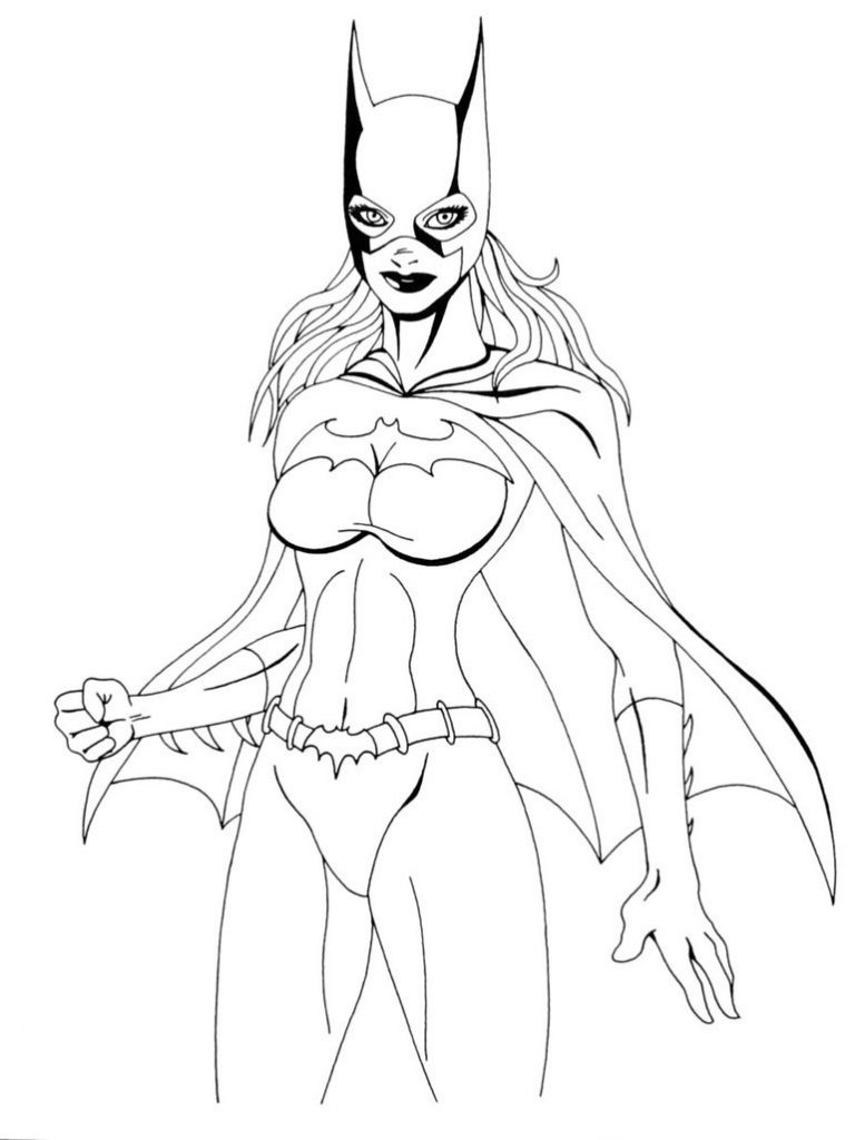 Free Printable Batgirl Coloring Pages