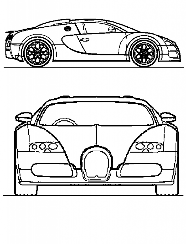 Free Printable Bugatti Coloring Pages