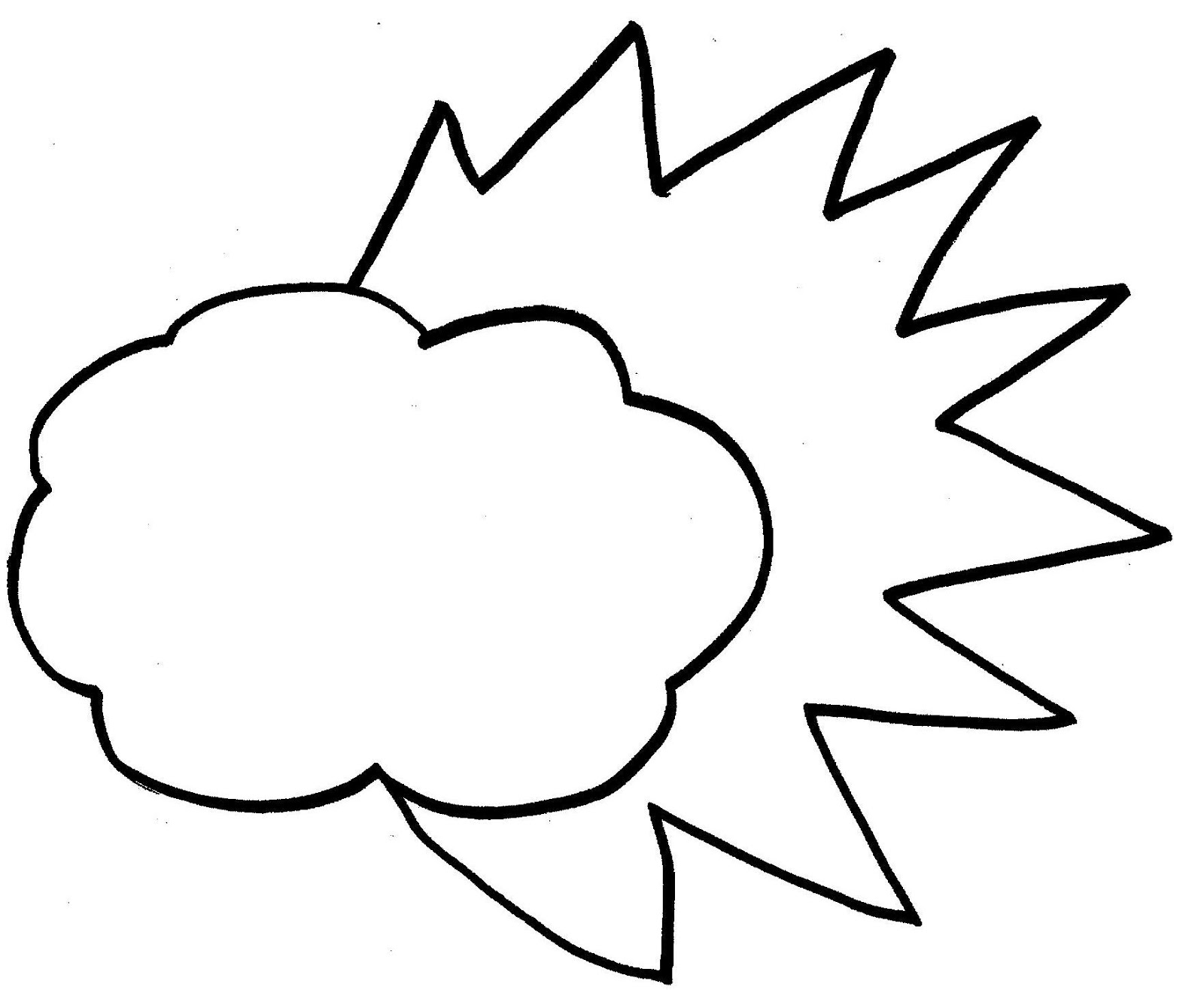 Free Printable Cloud Coloring Pages