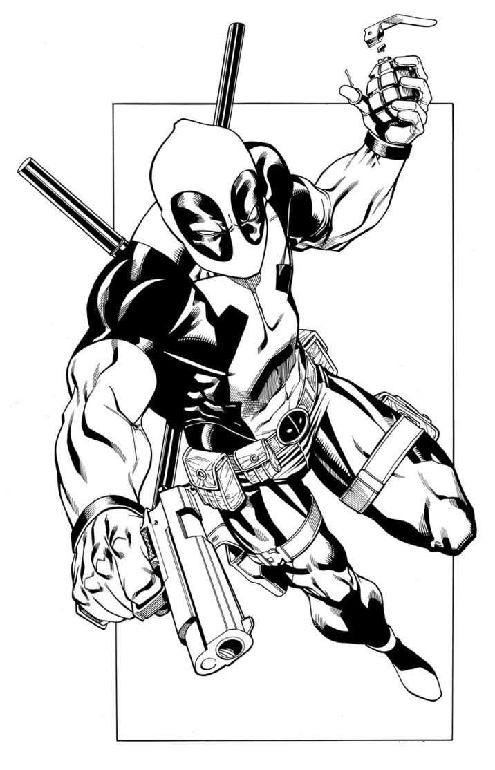Marvel comics coloring pages printable ~ Free Printable Deadpool Coloring Pages For Kids
