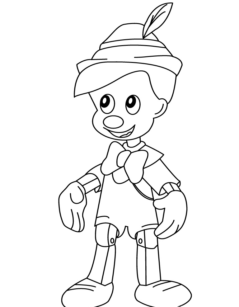 Free Printable Pinocchio Coloring Pages