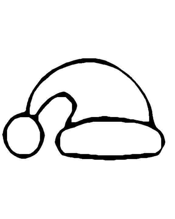 free printable santa hat coloring pages