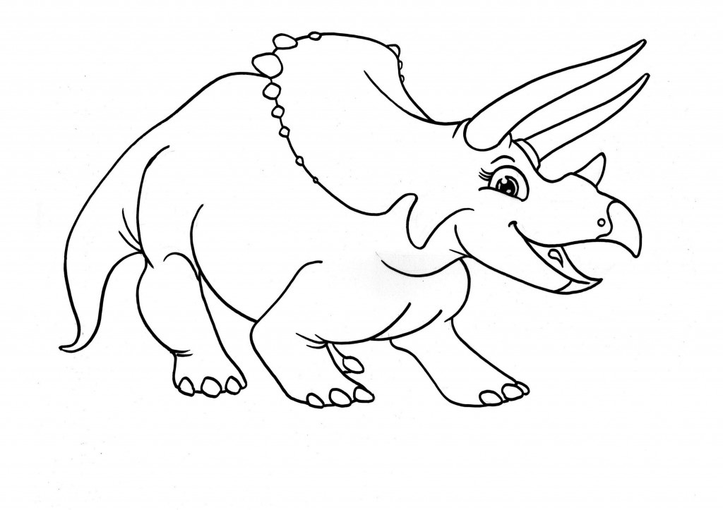 Free Printable Triceratops Coloring Pages