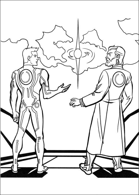 Free Printable Tron Coloring Pages