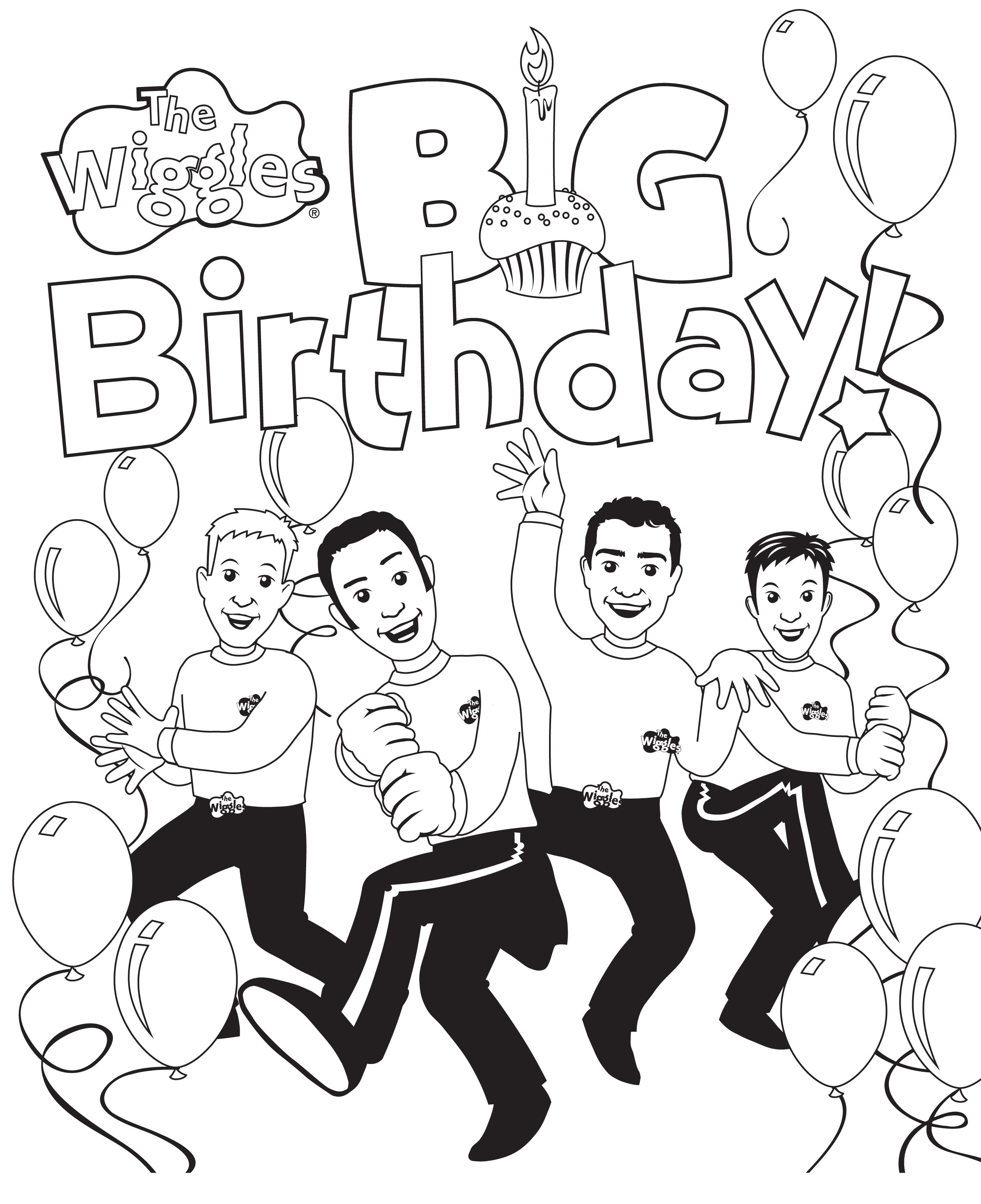Free Printable Wiggles Coloring Pages
