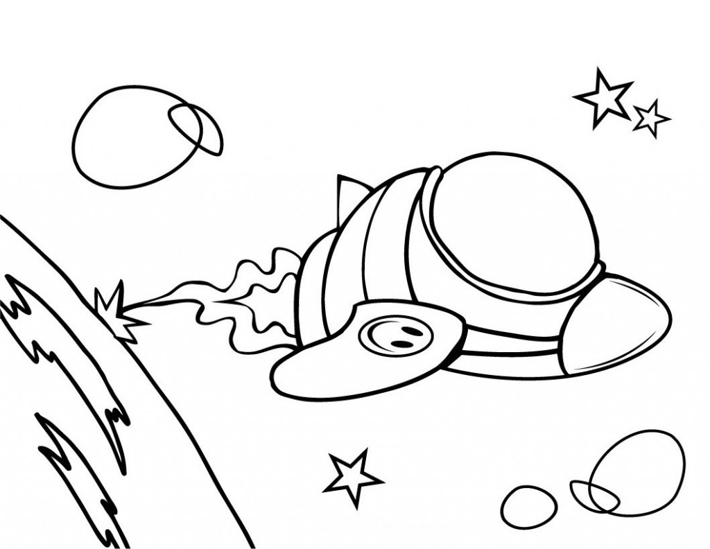 Free Spaceship Coloring Pages