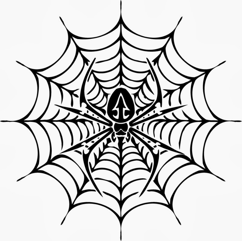 Free Spider Web Coloring Pages
