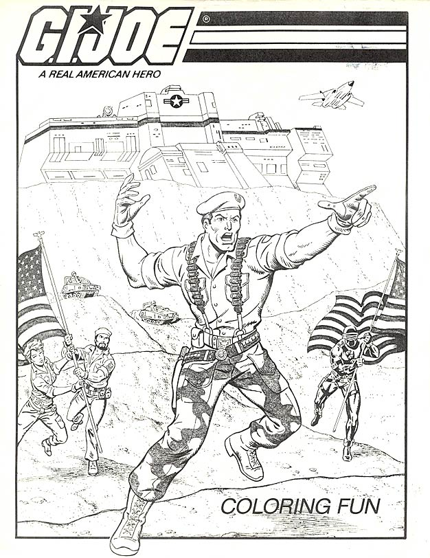 gi joe coloring page