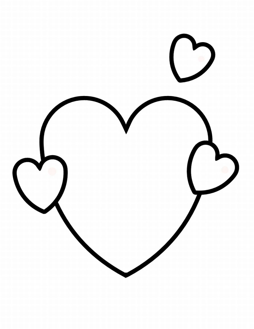 Free printable shapes coloring pages for kids for Free coloring pages hearts