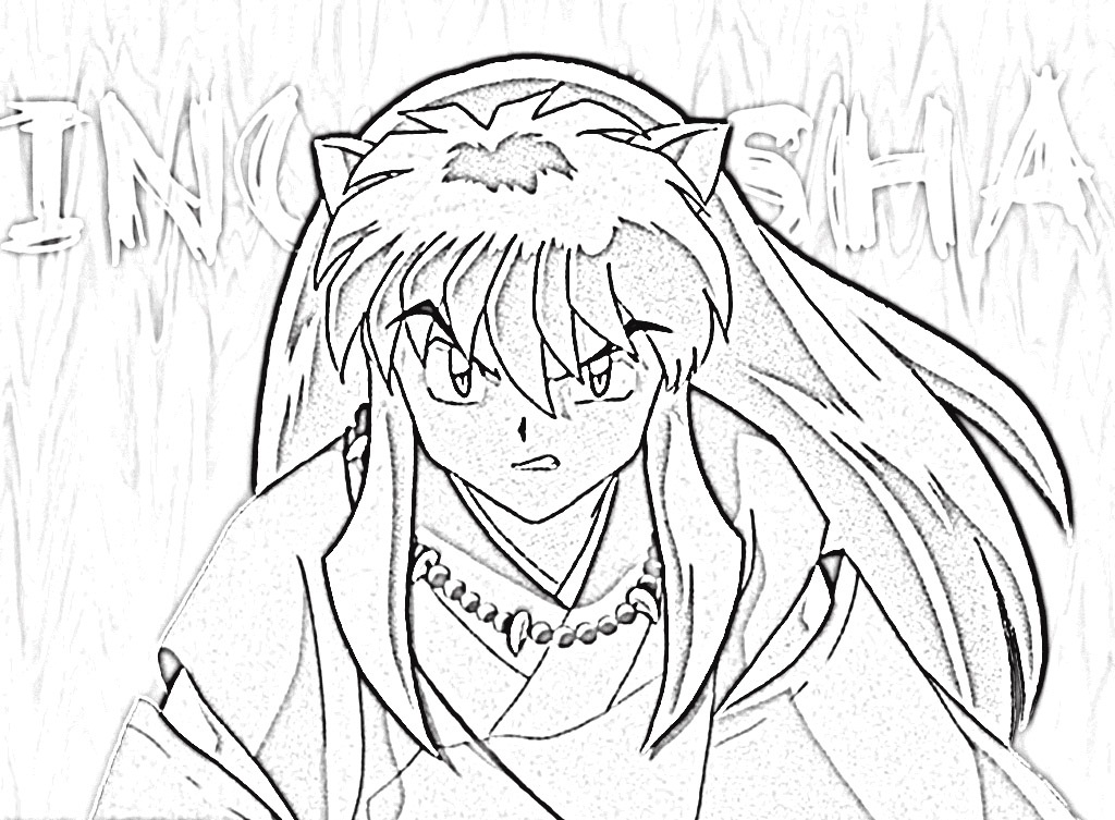 Inuyasha Coloring Pages For Kids
