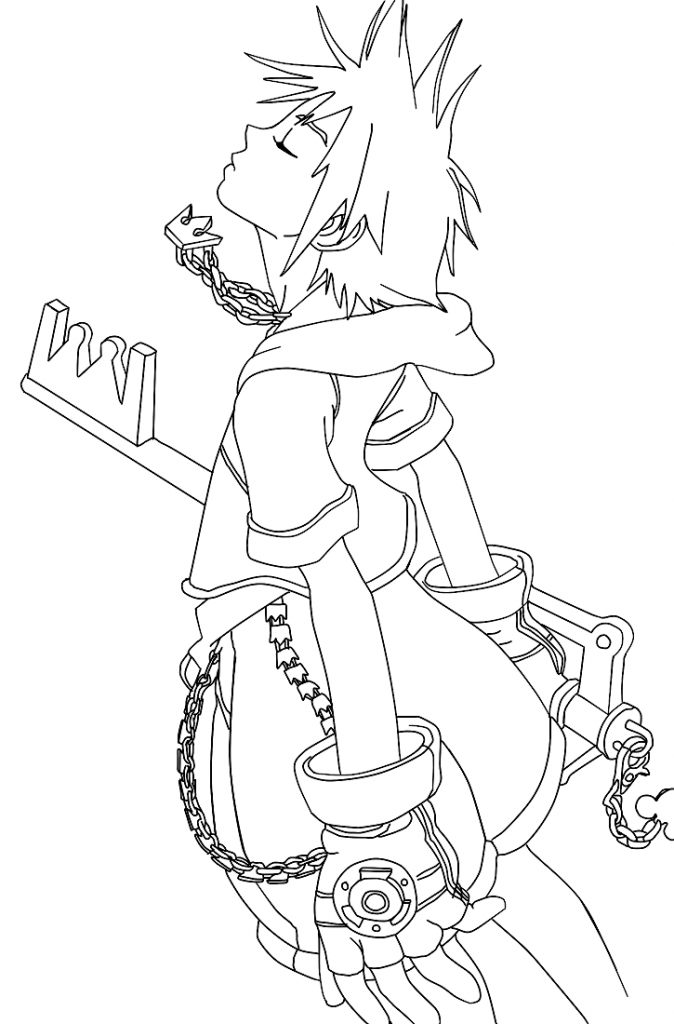 Kingdom Hearts Coloring Pages For Kids