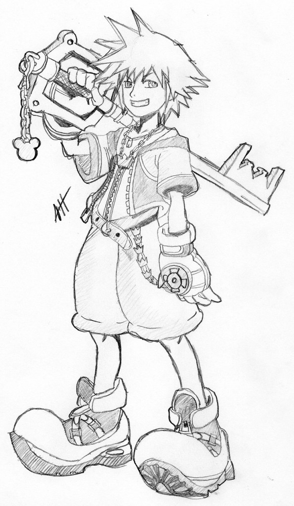 Kingdom Hearts Coloring Pages Pictures