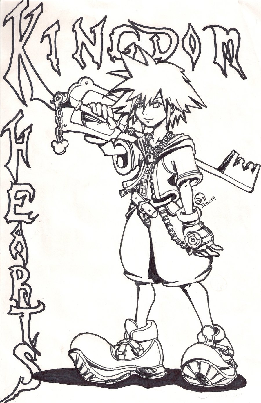 Free Printable Kingdom Hearts Coloring