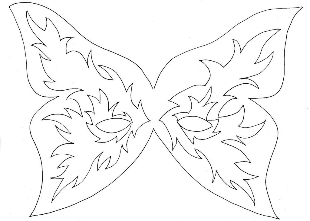 Mask Coloring Pages Pictures