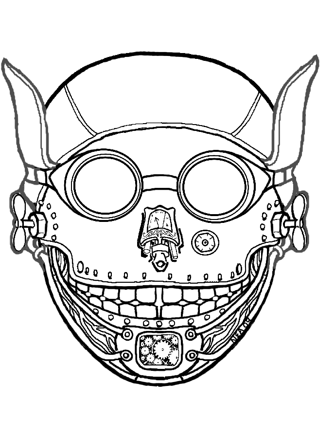 Mask Coloring Pages Printable