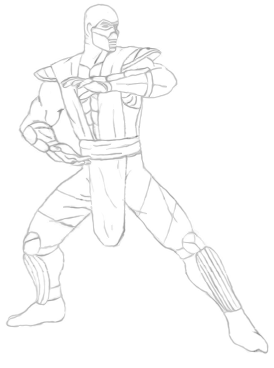 Mortal Kombat Coloring Pages For Kids