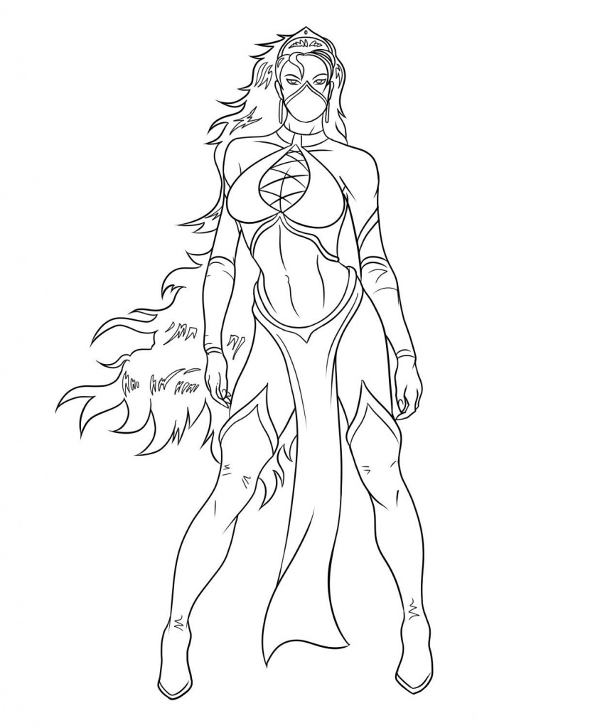Mortal Kombat Princess Coloring Pages