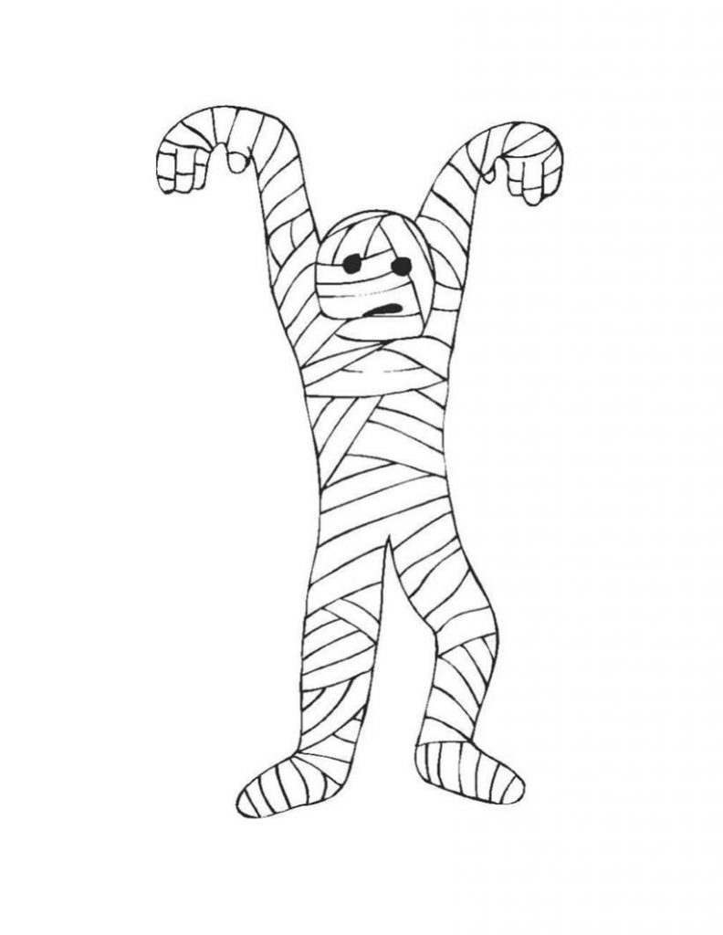 Mummy Coloring Pages Printable