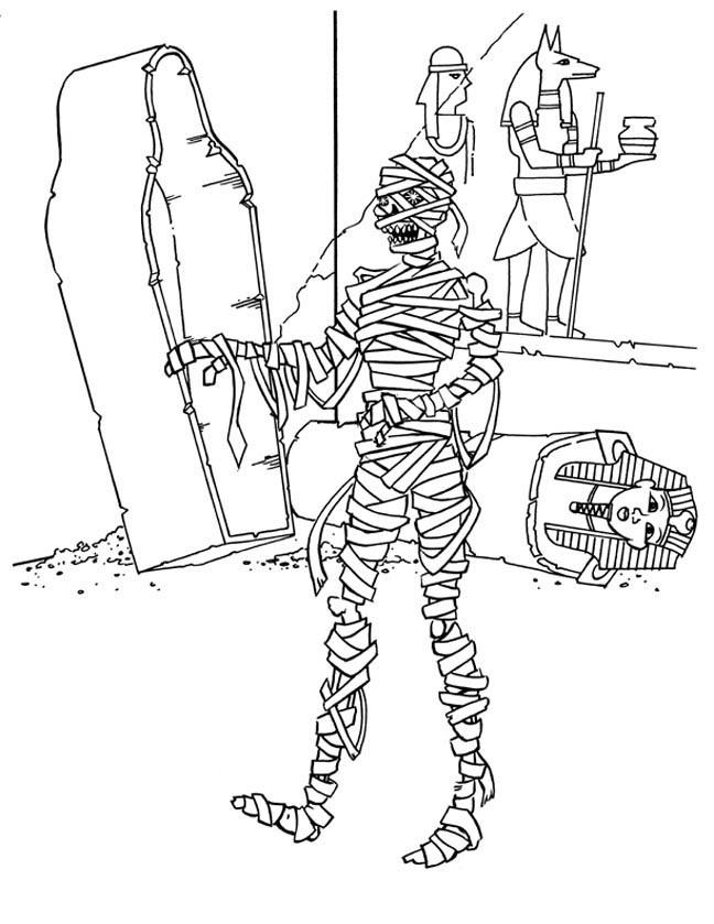 Free Printable Mummy Coloring Pages