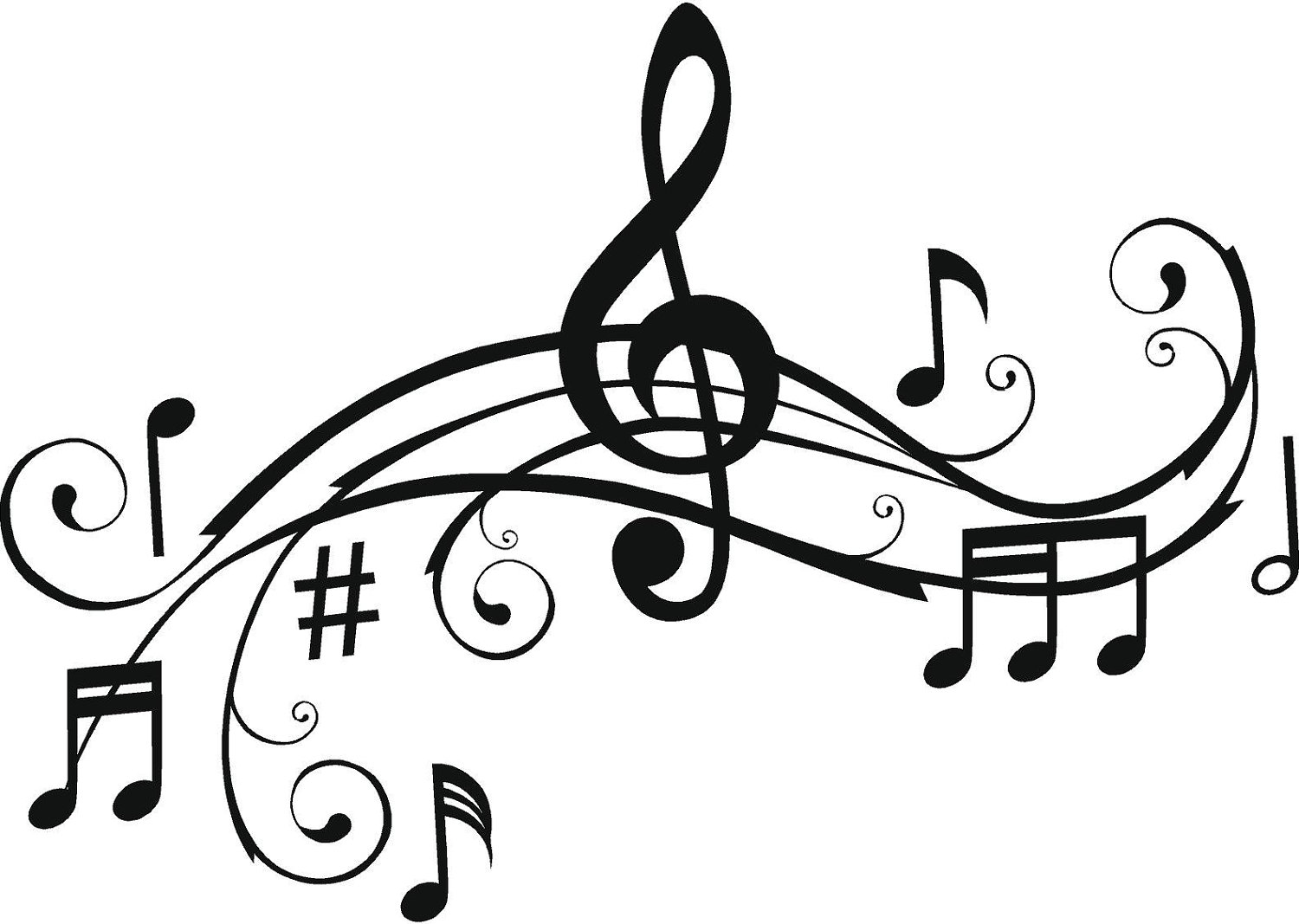 It is an image of Eloquent Musical Coloring Page