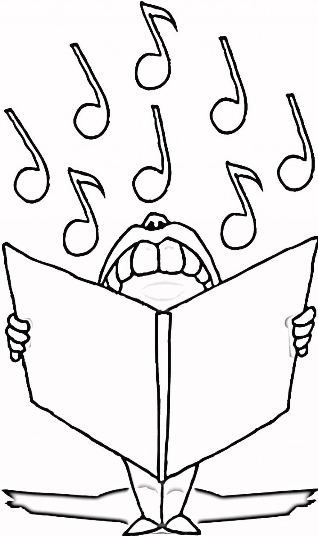 It is a picture of Revered Musical Coloring Page