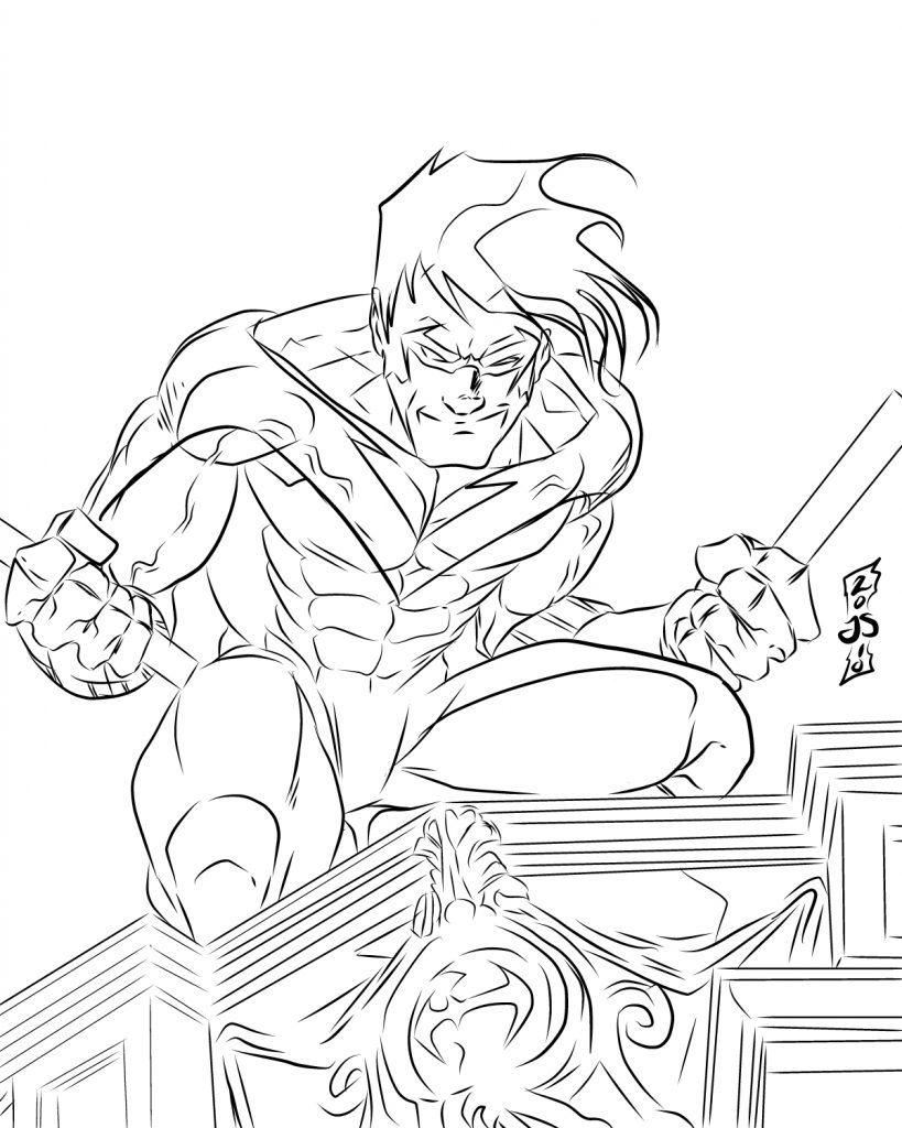 Nightwing Coloring Page