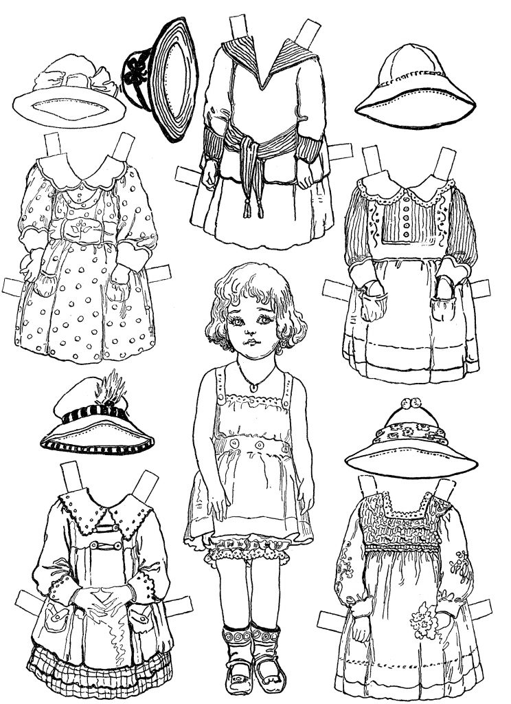 Free Printable Paper Doll Coloring