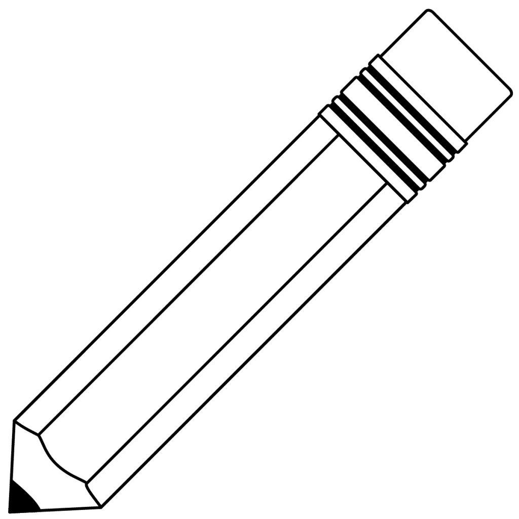 Pencil Coloring Page