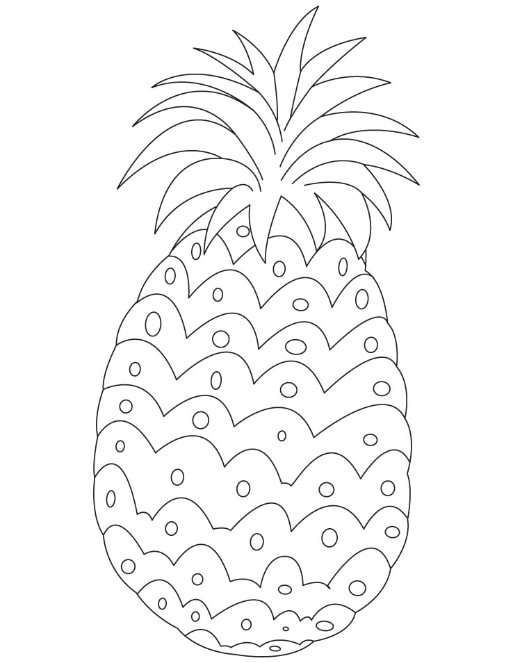 Free Printable Pineapple Coloring