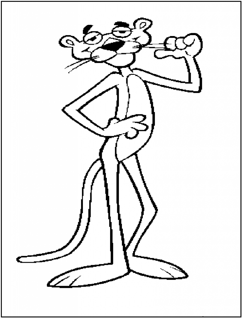 Pink Panther Coloring Pages To Print