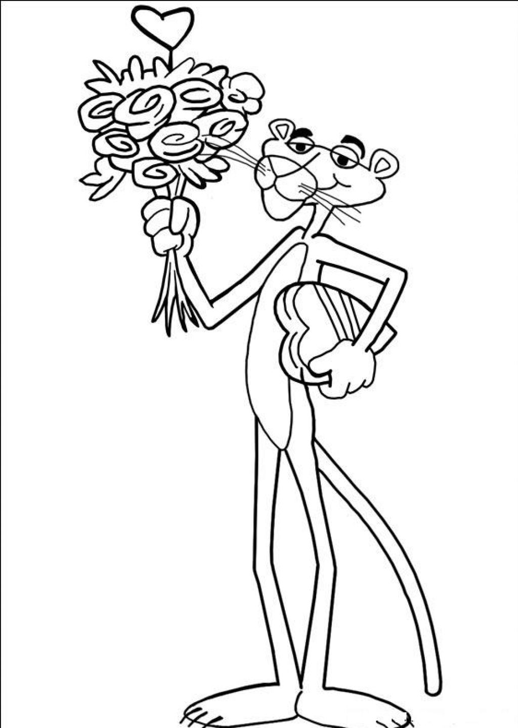 Free Printable Pink Panther Coloring Pages For Kids