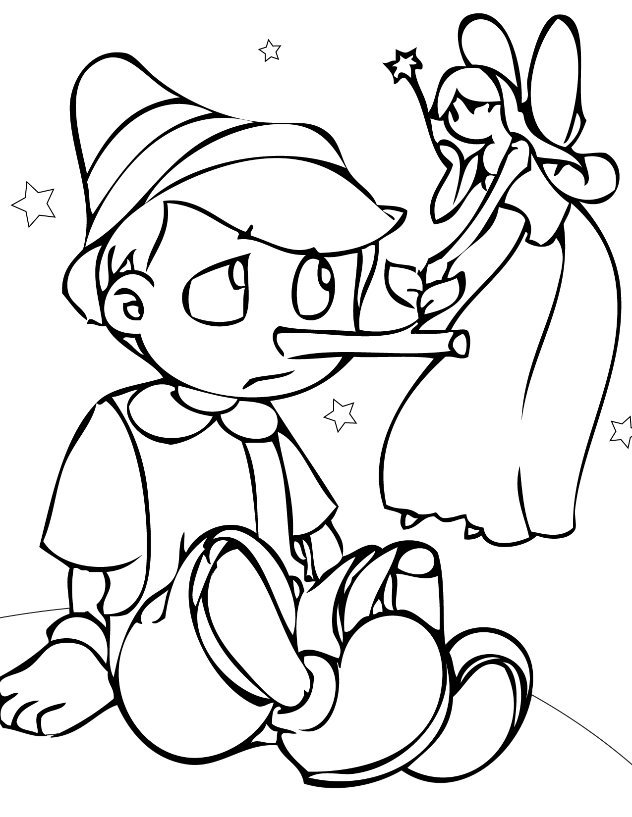 Printable Coloring Worksheets : Free printable pinocchio coloring pages for kids