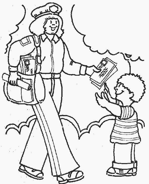 Preschool Community Helpers Coloring Pages