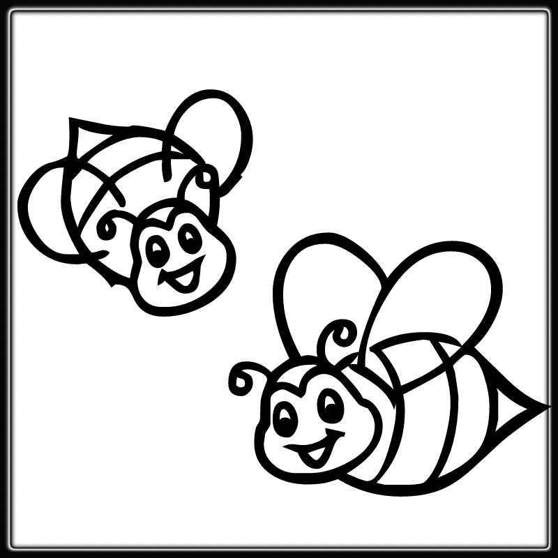 free bee coloring pages - photo#5