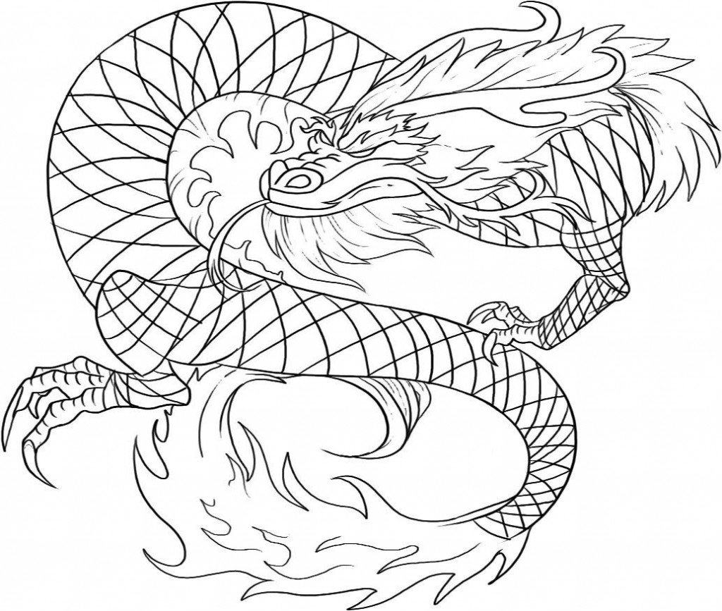 Printable Chinese Dragon Coloring Pages