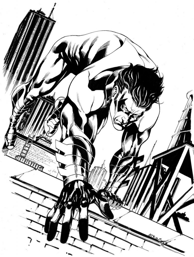 Printable Nightwing Coloring Pages