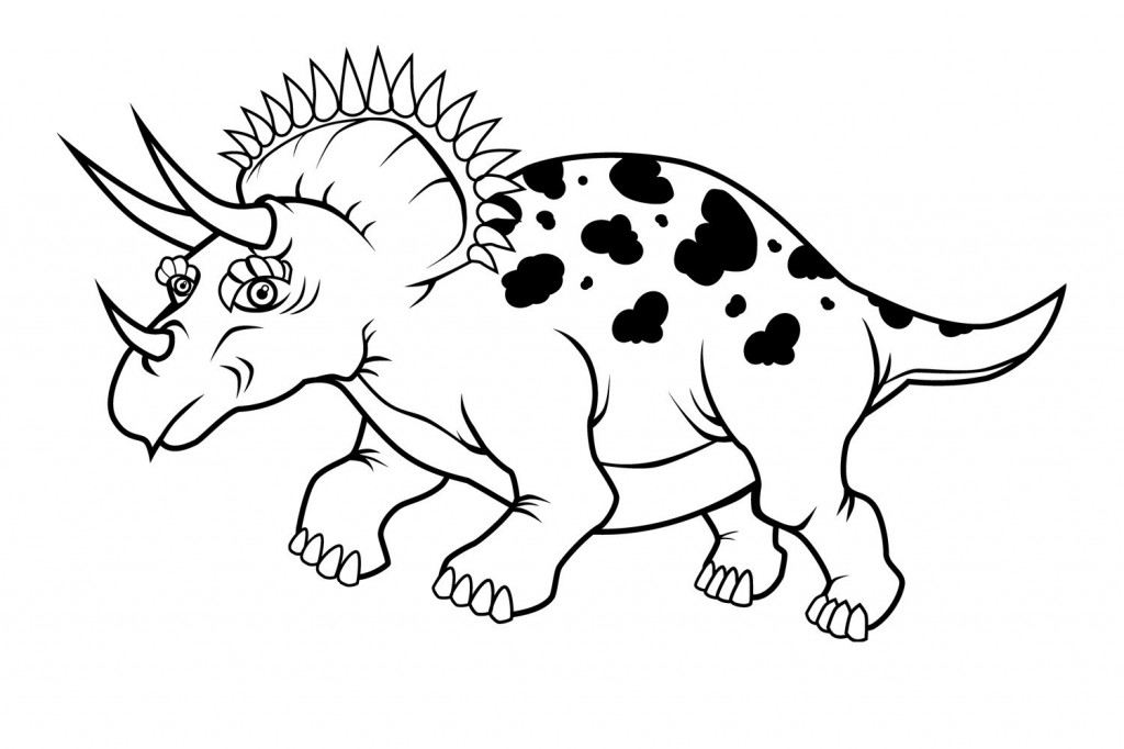 Printable Triceratops Coloring Pages