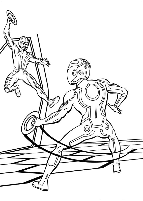 Printable Tron Coloring Pages