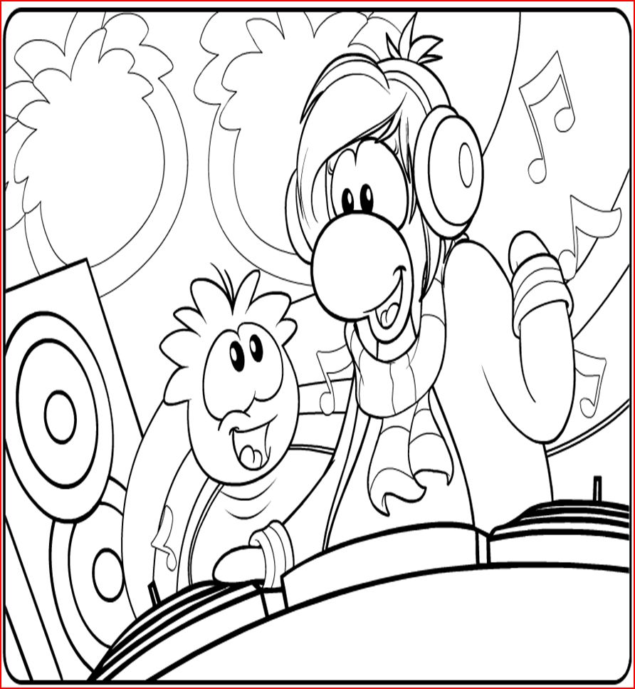 Free Printable Puffle Coloring