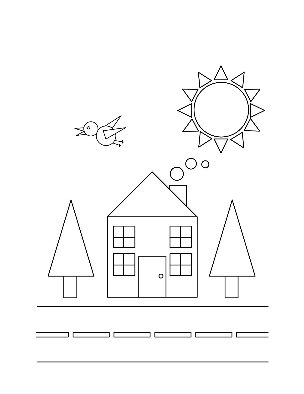 Simple Shapes Coloring Pages Printable