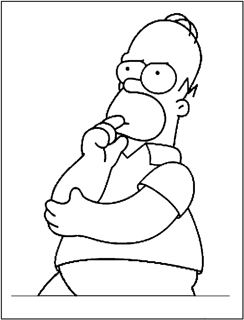 Free Printable Simpsons Coloring