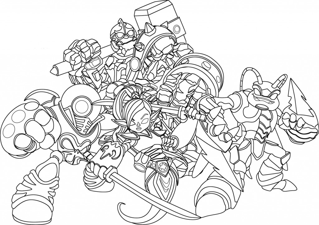 Skylanders Giants Free Coloring Pages