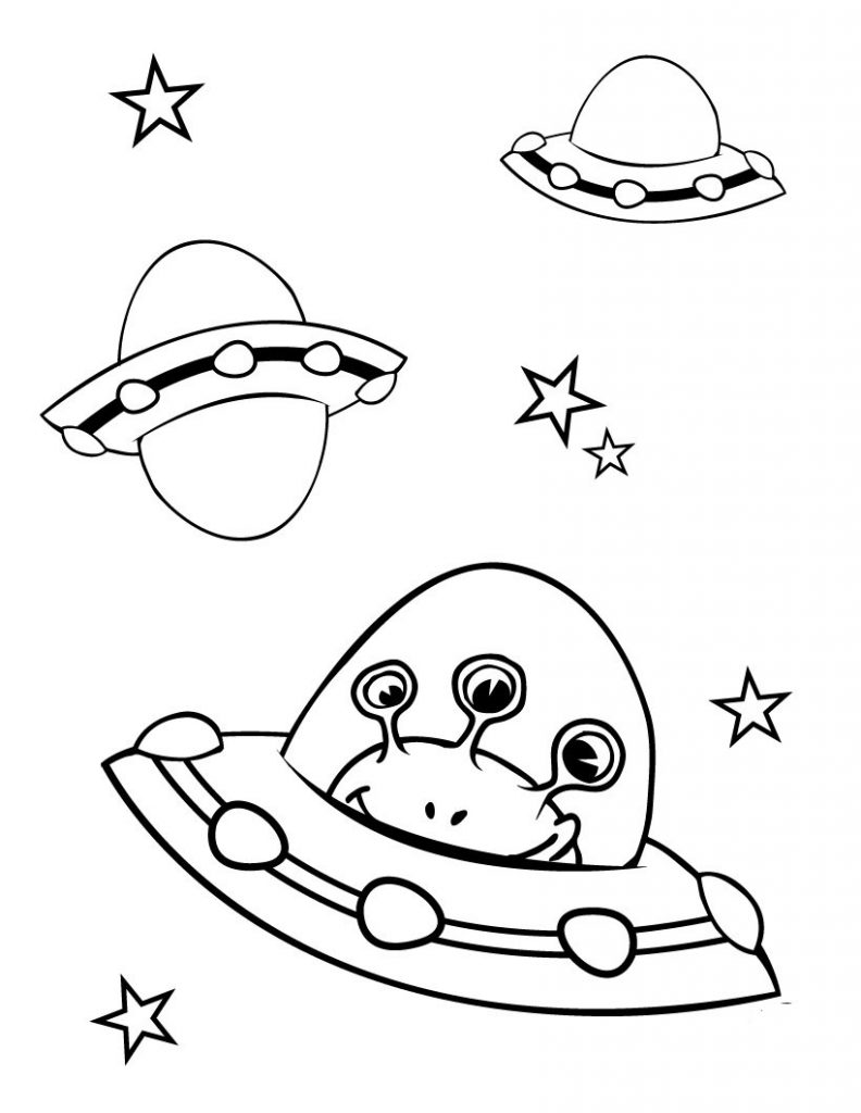 Spaceship Coloring Pages For Kids