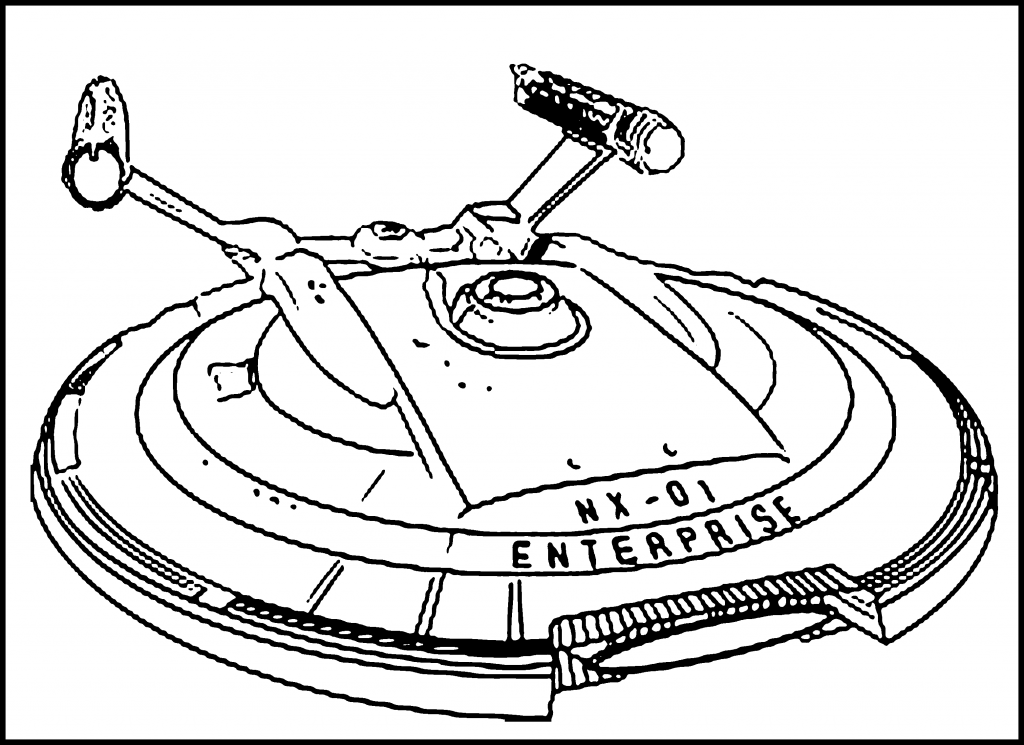 Spaceship Coloring Pages Pictures