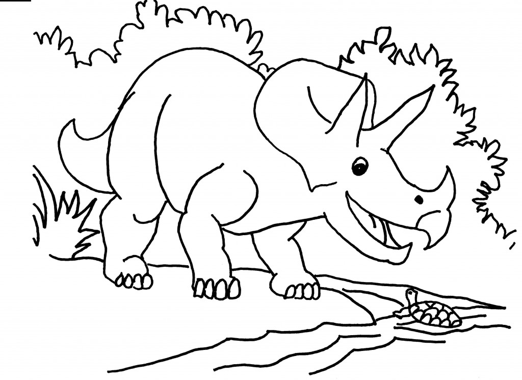 Triceratops Coloring Pages Printable