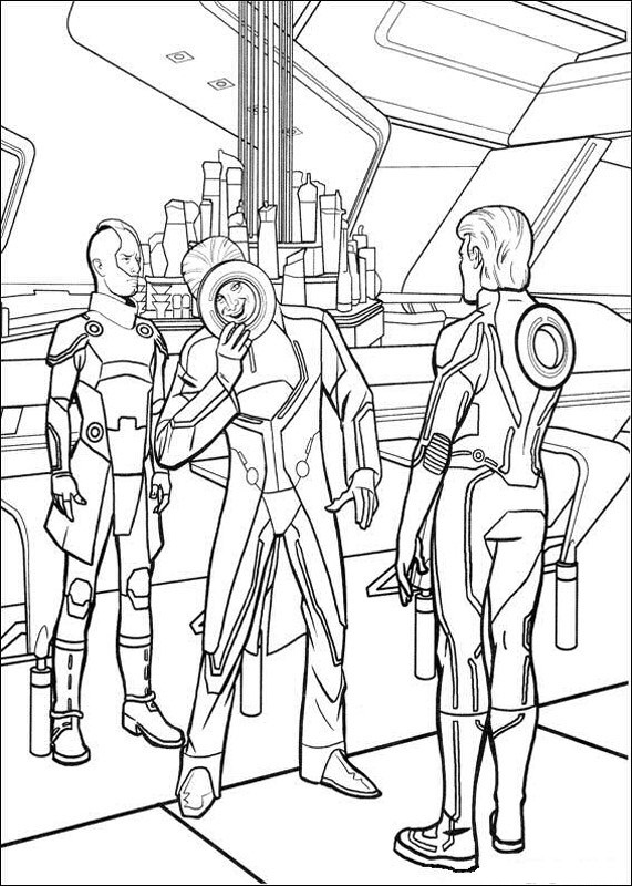Tron Coloring Pages Images