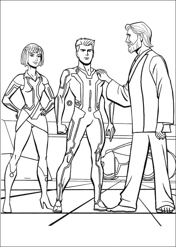 Tron Coloring Pages To Print