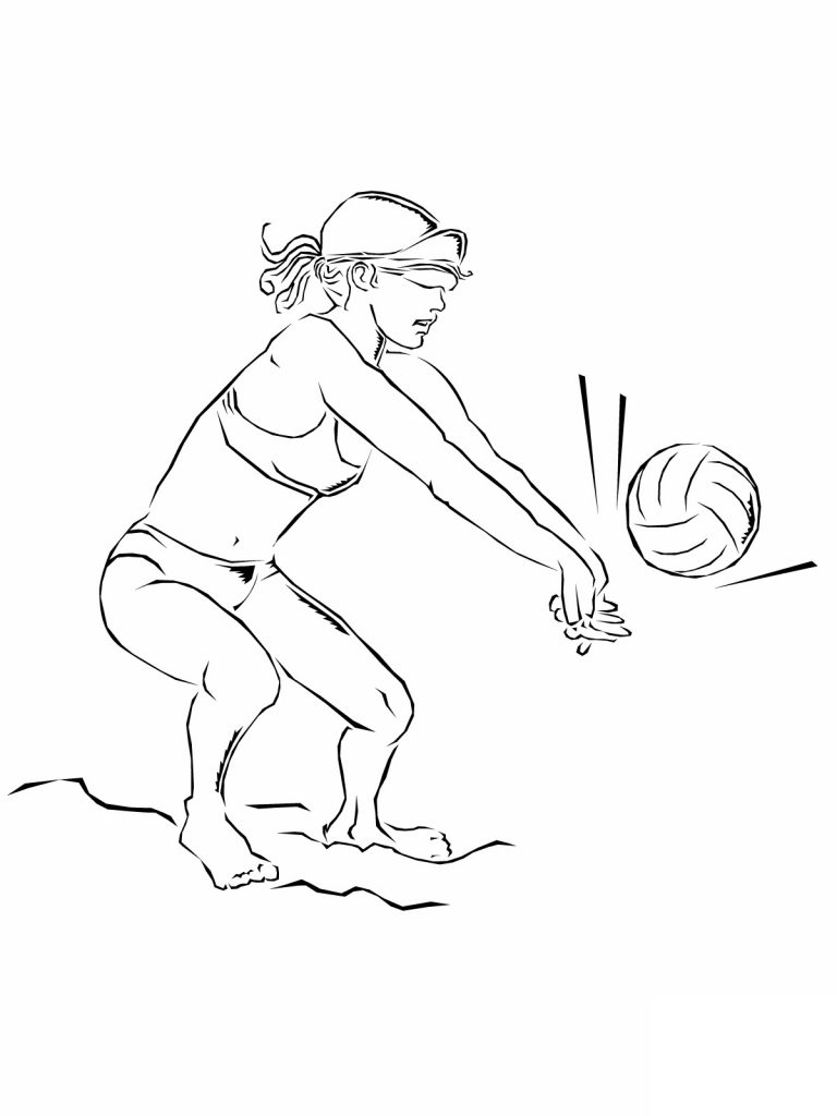 Volleyball Coloring Pages To Print