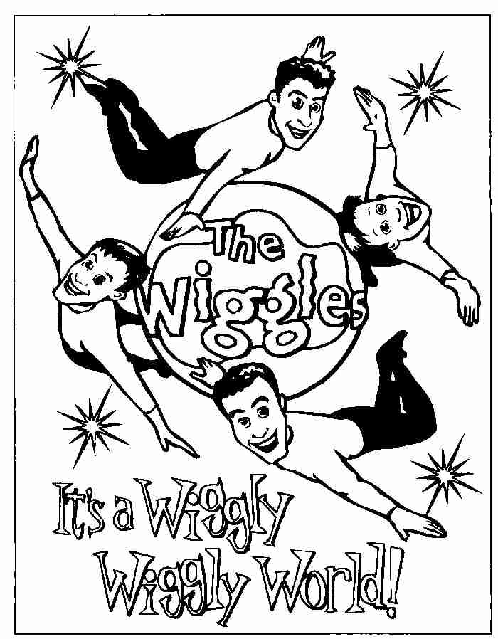 Free Printable Wiggles Coloring Pages For Kids